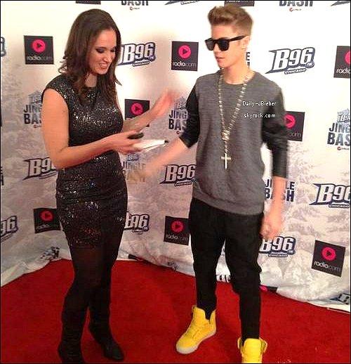 15/12/2012 :  Justin Bieber était sur scène pour le B96 Pepsi Jingle Bash à Chicago.