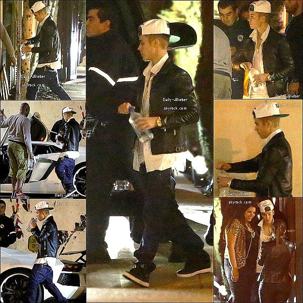 02/02/2013 :  Justin Bieber a été aperçu quittant le Nobu restaurant. TOP !