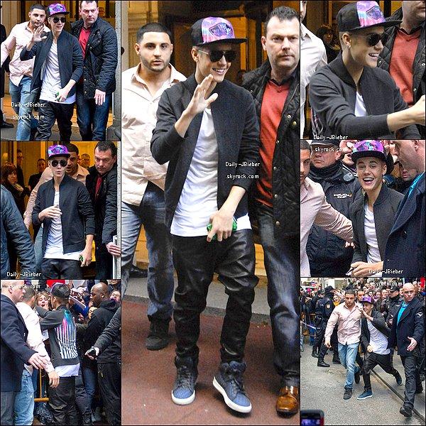 14/03/2013 :  Justin Bieber était à Madrid (Espagne) afin de performer pour le Believe Tour.