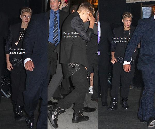 29/05/2013 :   Justin a été vu arrivant à l'avant Première du film After Earth, où son ami Jaden Smith y joue.