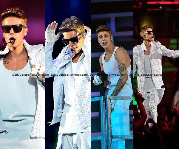 31/07/2013 :  Justin Bieber était de concert à Newark, aux Etats-Unis, pour le Believe Tour.