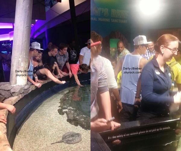 09/08/2013 :  Justin Bieber a été aperçu par des fans au Georgia Aquarium avec des amis.
