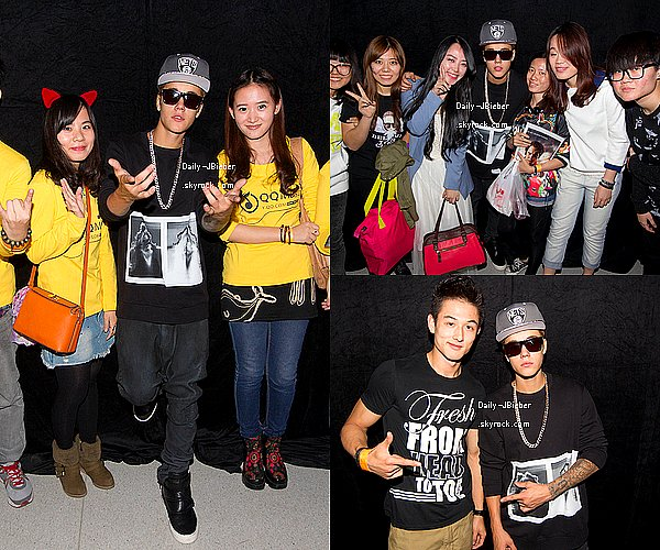 02/10/2013: Justin Bieber donnait un Meet & Greet à Dalian, Chine.TOP ! Aucune autre photo, ni du concert.