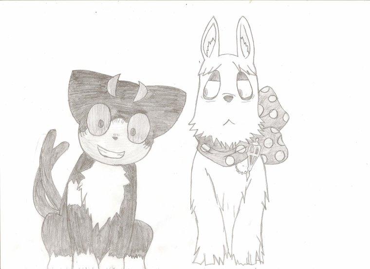 Dessin - Blue Exorcist - Mephisto et Kuro