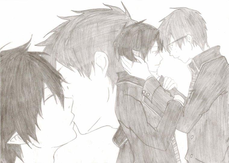 Dessin - Blue Exorcist - Rin X Yukio