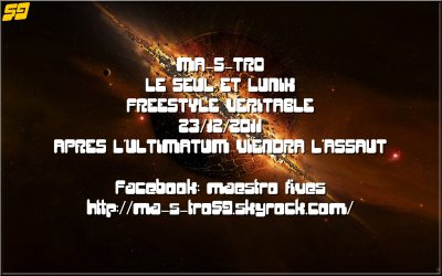 NOUVEAU FREESTYLE BY MA-S-TRO 59 REZIDANT FREESTYLE VERITABLE 23/12/2011