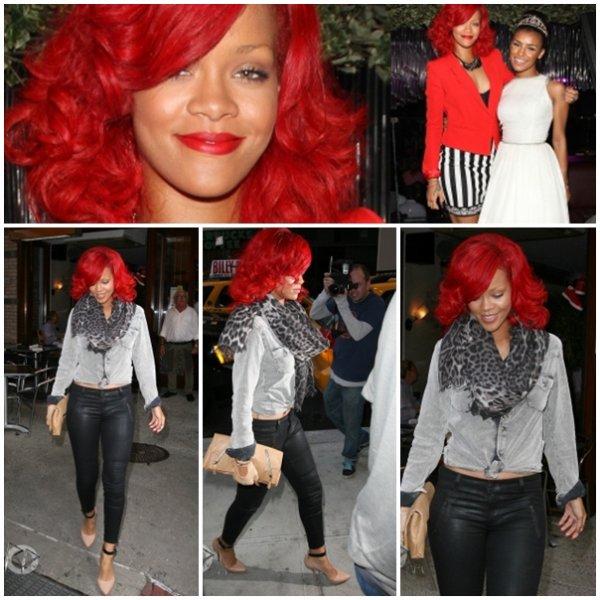 Rihanna au Drake's show + rihanna quittant son hôtel