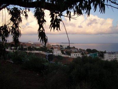 la  mer vu de chez moi (coucher de soleil)