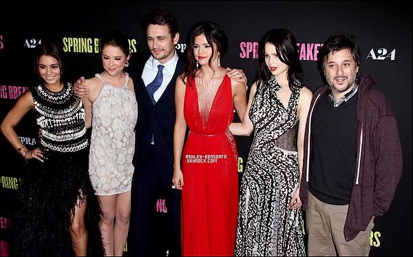 14/03/13 : Ashley et ses co-stars était présente a l'avant première de « Spring Breakers » à Los Angelès.