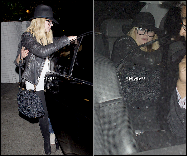 24/03/13 : Ashley Benson a été aperçue alors qu'elle sortait du Chateau Marmont, à Los Angeles.