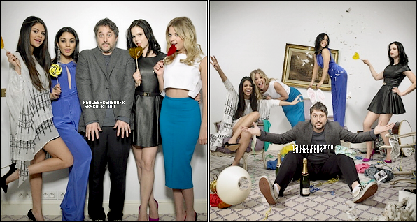 De nouvelle photo on apparut du Photoshoot avec le casting de Spring Breakers pour « Paris Match » .