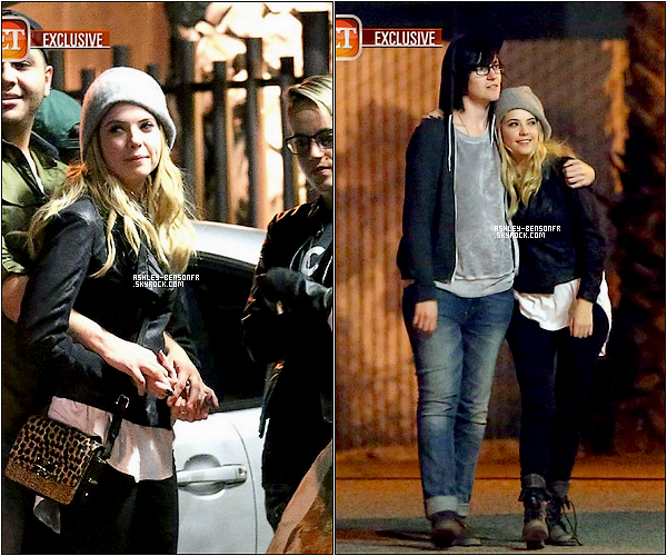 09/04/13 : Ashley et Tyler ( Co-Star dans PLL ) ont été aperçus quittant un restaurant à Los Angelès.