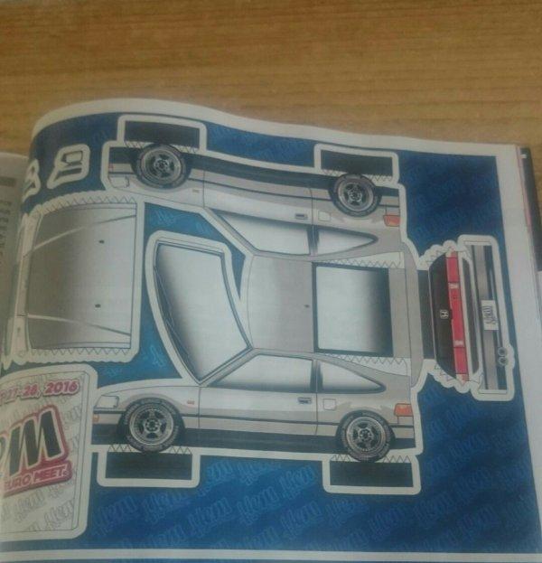 Honda CRX b18c6 paper toys