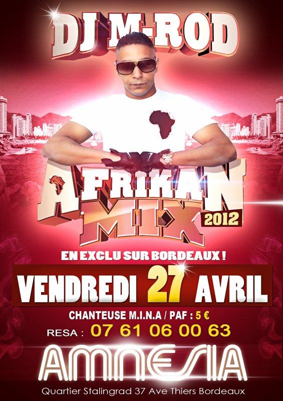 Retrouvez moi en EXCLU à Bordeaux avec M.I.N.A À l'AMNÉSIA Vendredi 27 Avril pour une soirée pure mixxxxxx