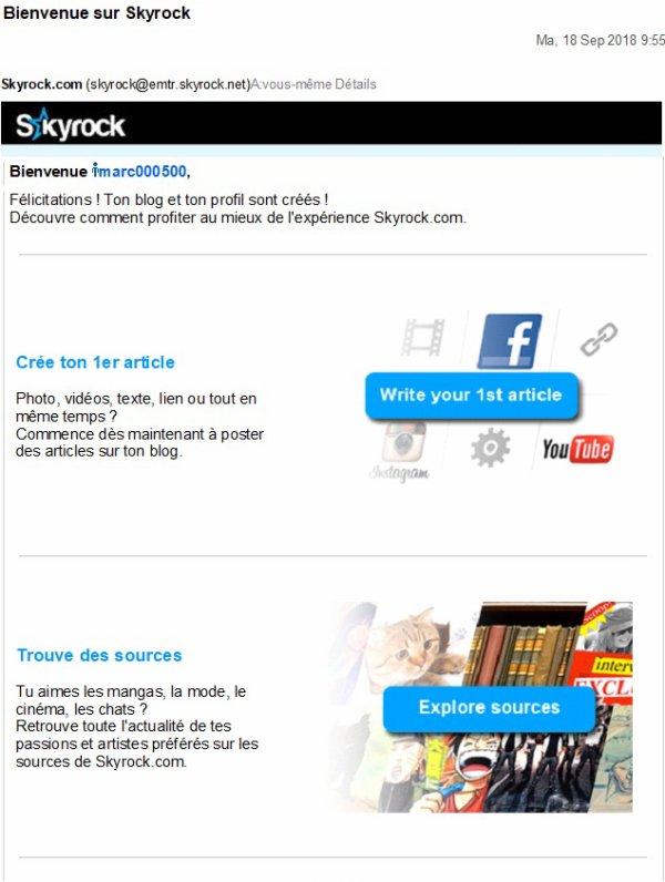Bienvenue sur Skyrock