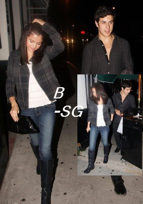 Ven. 27 Août : Selena et David Henrie quittant le restaurant Philippe Chow,