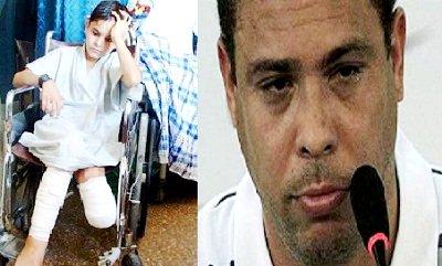 رونالدو بطل فيلم سينمائي عن طفل فقد ساقيه في ملعب جراء قصف اسرائيلي