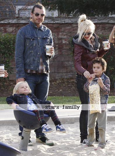 Gavin Rossdale, Gwen Stefani, Kingston James McGregor & Zuma Nesta Rock Rossdale