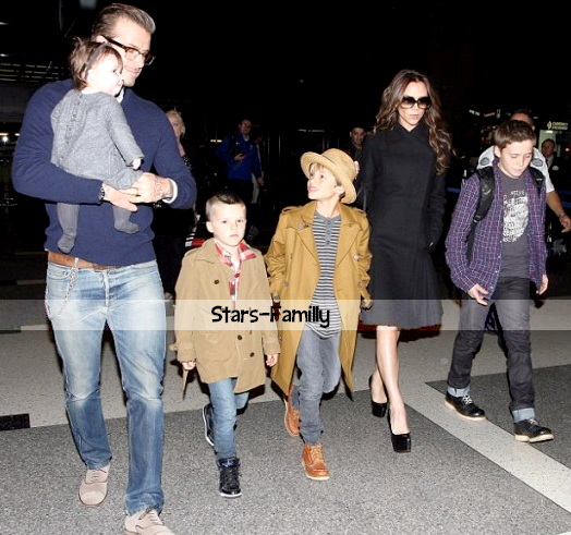 David & Victoria Beckham, Brooklyn Joseph, Romeo James, Cruz David, Harper Seven Beckham