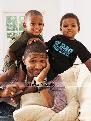 Raymond Usher et ses fils Usher Raymond V & Naviyd Ely Raymond