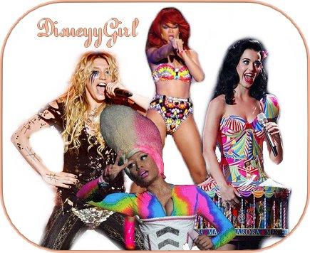Kesha OU Rihanna OU Nicky Minaj OU Katy Perry