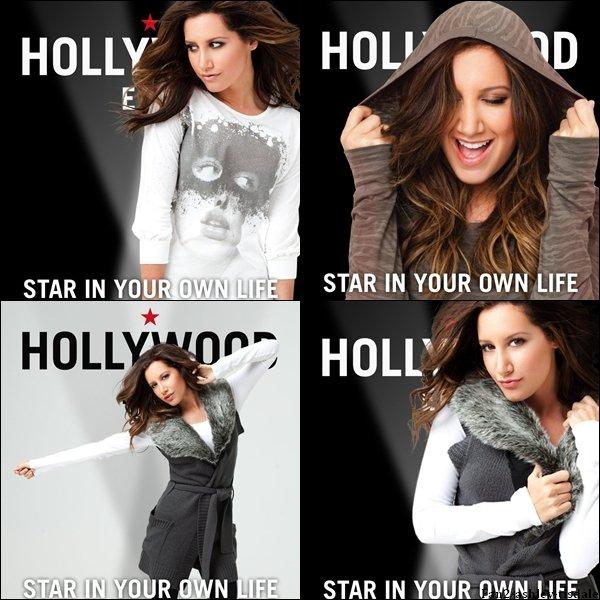 """Ce mercredi 10 août 2011, Ashley a été vue faire le plein d'essence à Los Angeles. Et voici un photoshoot de la marque """" Hollywood Era """" dont elle est l'égérie."""