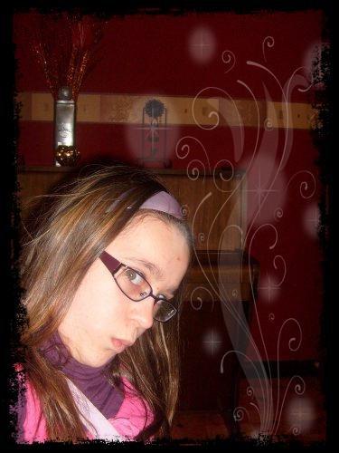 Bérénice avec mes lunettes:O!