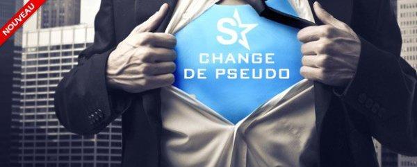 Nouveauté : Le changement de pseudo ? C'est maintenant possible !