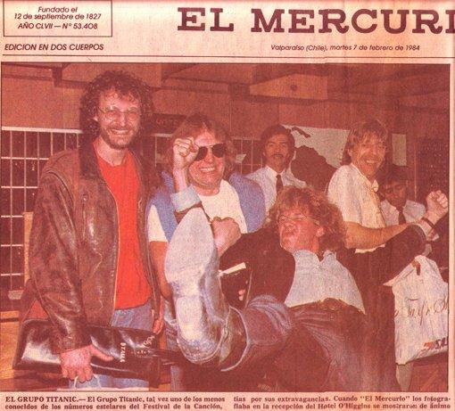 T I T A N I C à l'aèroport de SANTIAGO  au CHILI  1984