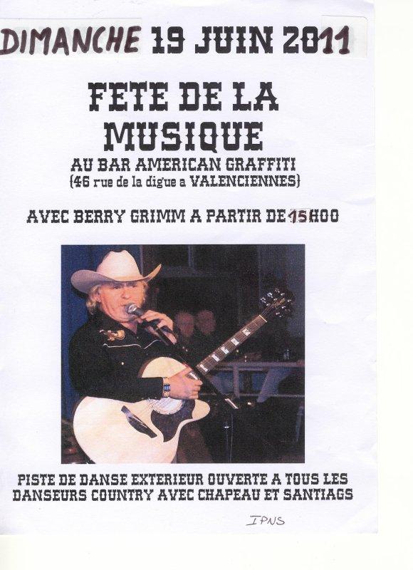 Fête de la musique chez NENESS : BERRY GRIMM dès 15 H 00 le 19 juin 2011