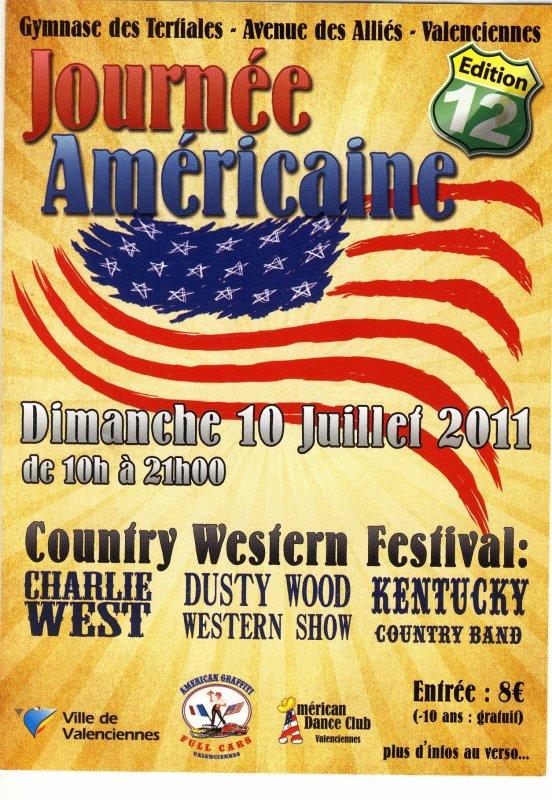 JOURNEE AMERICAINE le 10 JUILLET 2011 - VALENCIENNES