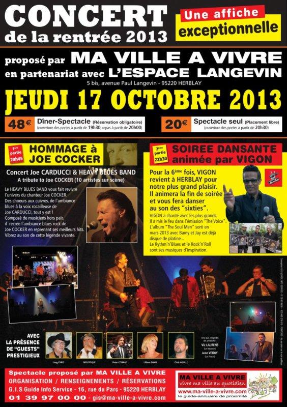 1/2 - CONCERT & SOIREE DANSANTE A HERBLAY LE 17 OCTOBRE 2013
