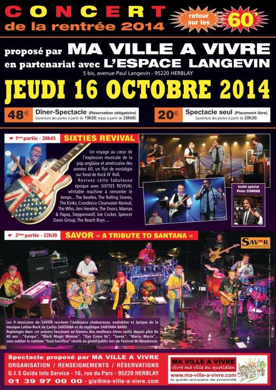 CONCERT A HERBLAY  JEUDI 16 OCTOBRE 2014