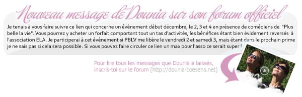 I N F O  :   Dounia tournera dans le court-métrage intitulé Intérêt général de Hafid Aboulahyane. Le tournage est prévu pour le 15 octobre.