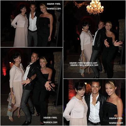 Dounia au festival de Cannes en compagnie de Cécilia Hornus et Ambroise Michel, ses co-stars de Plus Belle La Vie !