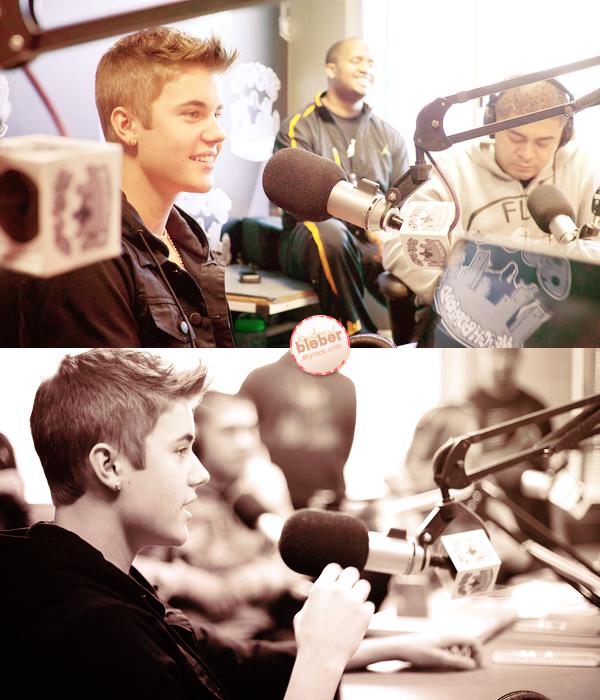 27|03|12  - De magnifiques clichés de Justin ont été pris durant son passage à la radio Big Boy.