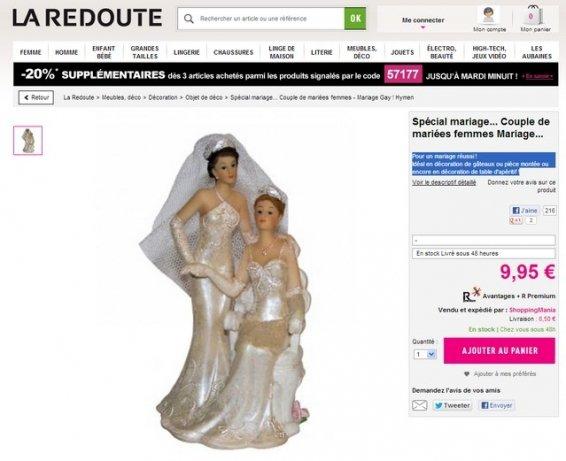 """Buzz : La Redoute vend des figurines spécial """"mariage gay"""""""