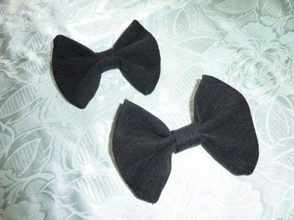 Noeud en jean noir (grand modèle)
