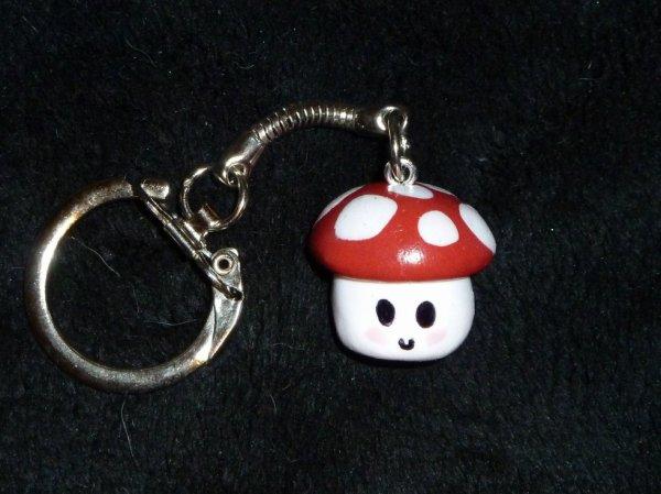porte clés champignon