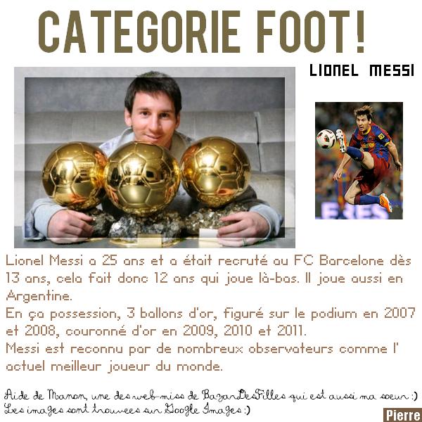 Lionel Messi :)