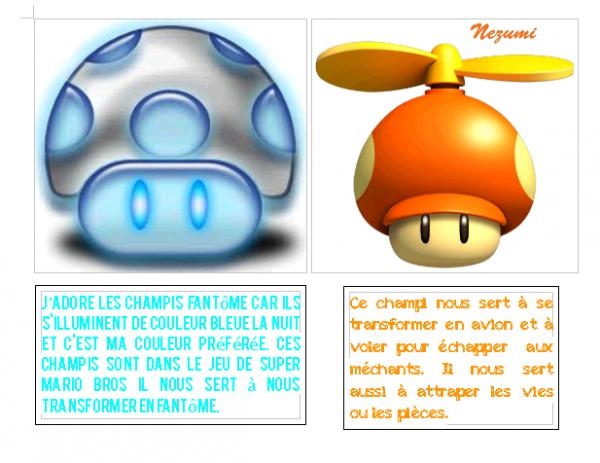 Mario Bross, les champis