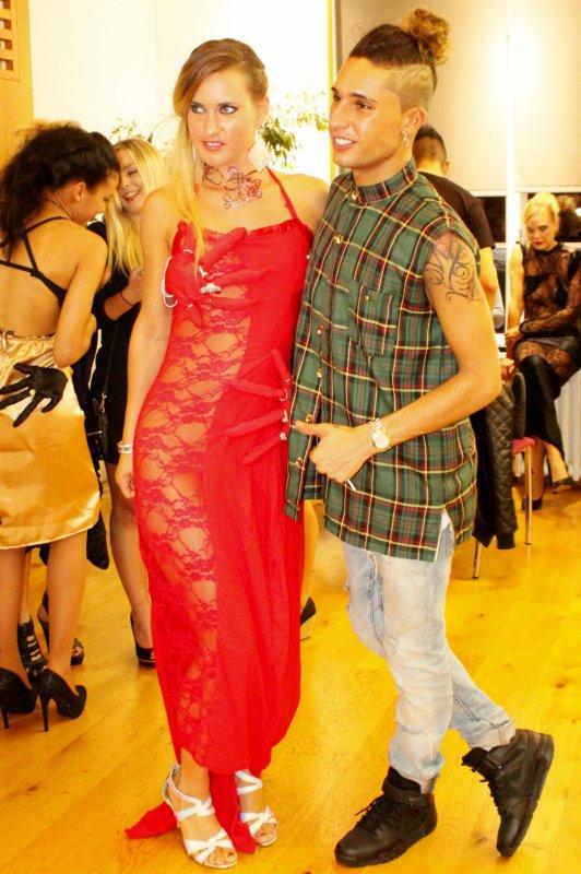 Premier passage à la télé sur france  3 pour annoncer le défilé de la Fashion clubbing Night