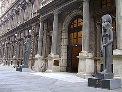 EGYPTE :  LES MUSEES                                                                                                   :               LE  MUSEE   EGYPTIEN  DE  TURIN  ( ITALIE )