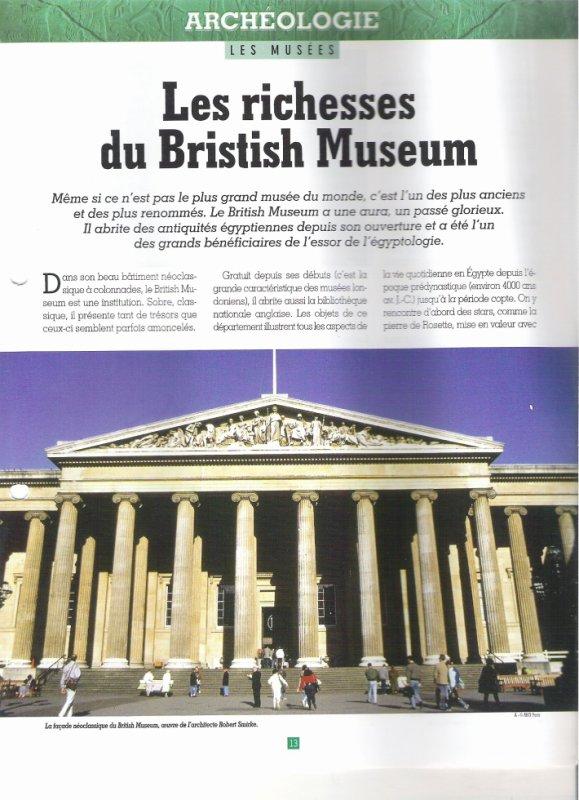 LES MUSEES  (  DU  BRISTISH  MUSEUM  )  .