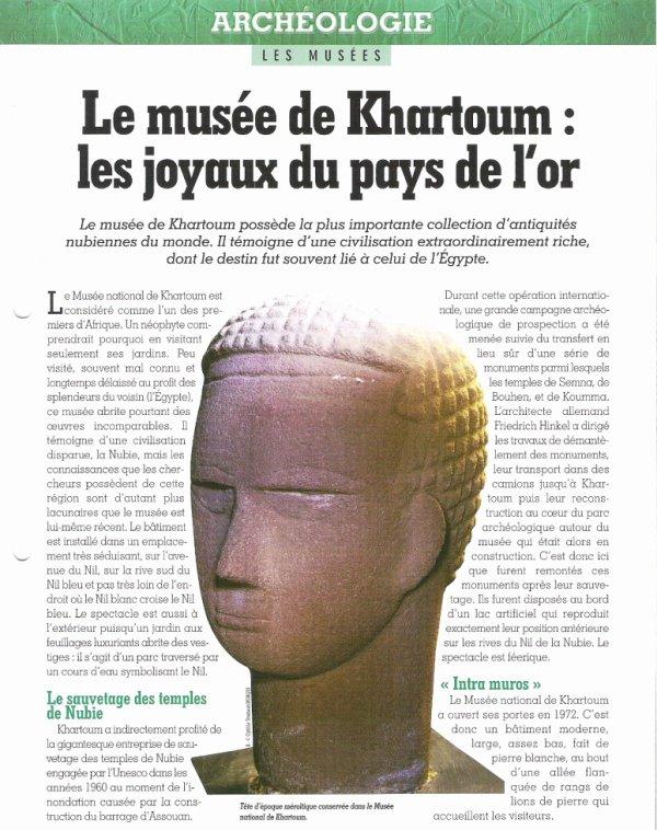 LES  MUSEES  (  DE   KHARTOUM  )  .