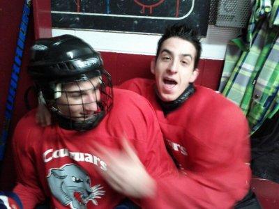 Moi et Francis Blais en hockey xD