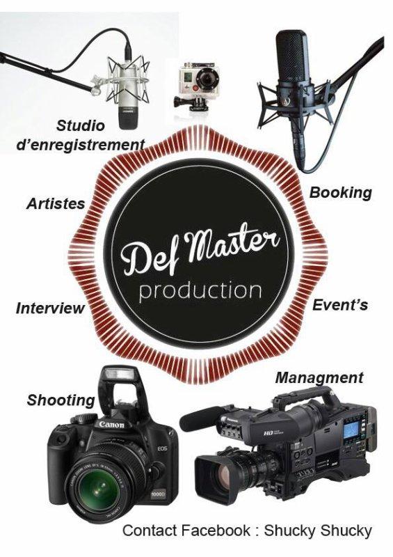 Tu es un artiste,tu veux être entouré par des professionnels, contacte Shucky Shucky pour tes projets ,rejoins Defmaster Production, pour le Booking Management !