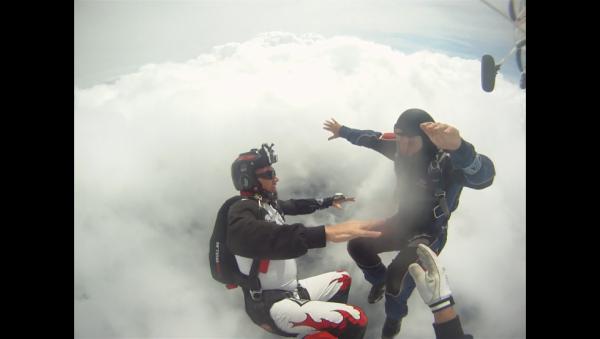 Jean-Marc & Fabrice dans le beau ciel bleu de Spa...