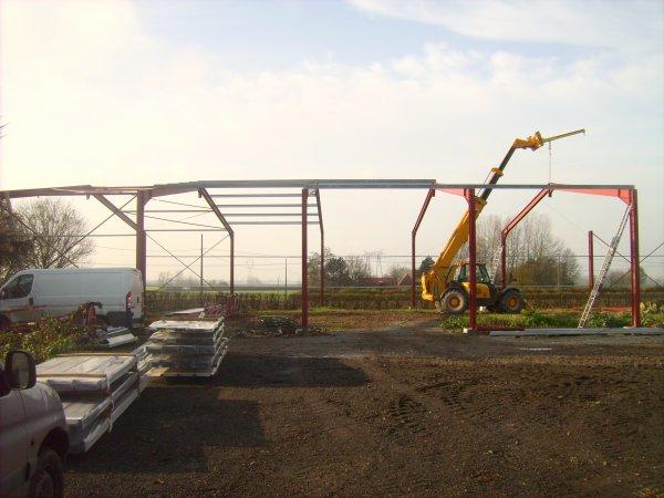 mon hangar en construction