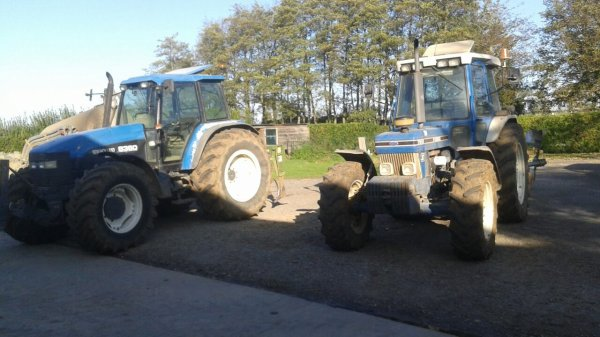 Le ford 7810 et le new holland 8360